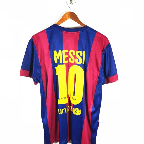 677f15dbc FC Barcelona Other - FC Barcelona Home Lionel Messi Soccer Jersey Men s